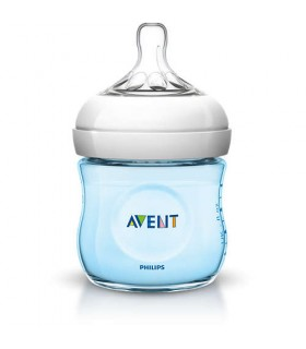 AVENT BIBERON  NATURAL AZUL 125 ML 0M