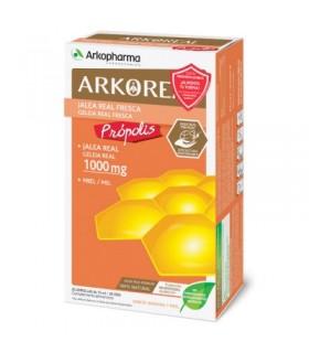 ARKOPHARMA JALEA REAL + PROPOLIS 20 AMPOLLAS Defensas y Vitaminas - ARKOPHARMA