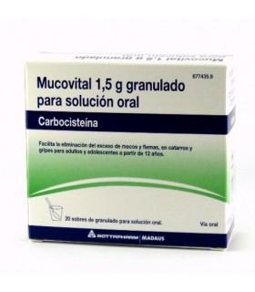 MUCOVITAL 2.7 G 20 SOBRES GRANULADO Medicamentos y Inicio -