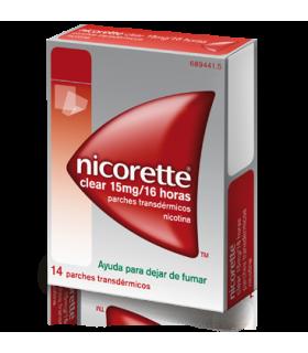 NICORETTE CLEAR 15 MG/16 H 14 PARCHES TRANSDERMICO Medicamentos y Inicio -