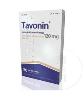 TAVONIN 120 MG 30 COMPRIMIDOS Medicamentos y Inicio -