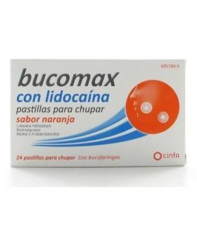 BUCOMAX LIDOCAINA NARANJA 24 PASTILLAS PARA CHUPAR Resfriado, tos y Gripe y Medicamentos - CINFA