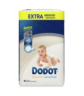 DODOT SENSITIVE EXTRA T3+ 7-11 KG 60U Pañales y toallitas y Cuidado del bebe -