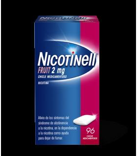 NICOTINELL FRUIT 2 MG 96 CHICLES MEDICAMENTOSOS Deshabituacion tabaquica y Medicamentos - NOVARTIS CONSUMER HEALTH