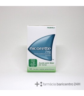 NICORETTE 2 MG 30 CHICLES Deshabituacion tabaquica y Medicamentos - JOHNSON AND JOHNSON