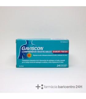 GAVISCON FRESA 24 COMPRIMIDOS Acidez y Trastornos Digestivos -