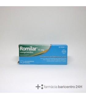 ROMILAR 15 MG 20 COMPRIMIDOS Tos y mucosidad y Resfriado, tos y Gripe - BAYER HISPANIA S.L.