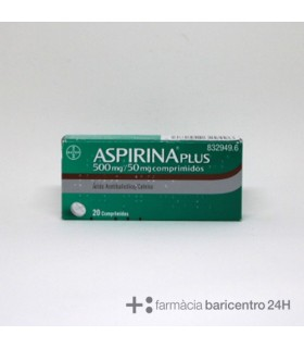 ASPIRINA PLUS 500/50 MG 20 COMPRIMIDOS Analgesicos y Dolor y Fiebre - BAYER HISPANIA S.L.