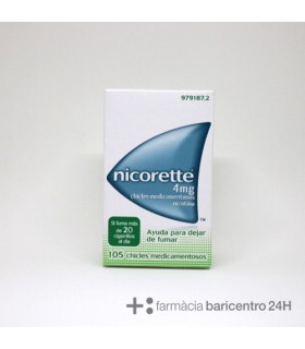 NICORETTE 4 MG 105 CHICLES Deshabituacion tabaquica y Medicamentos - JOHNSON AND JOHNSON