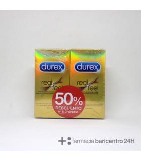 DUREX PRESERVATIVOS REAL FEEL 12 UND DUPLO Preservativos y Salud Sexual -