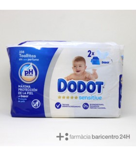 DODOT SENSITIVE TOALLITAS BEBE 108 UNIDADES Pañales y toallitas y Cuidado del bebe -