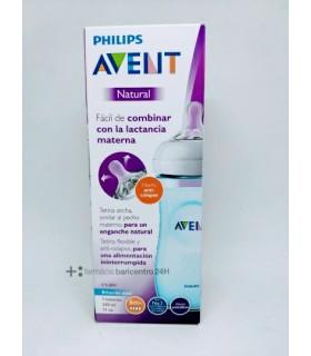 AVENT BIBERON PP NATURAL 330 ML AZUL Biberones y Accesorios del bebe - BB AVENT