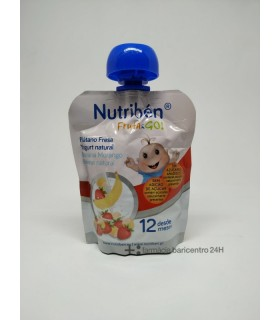 NUTRIBEN FRUTA AND GO PLATANO FRESA YOGURT NATURAL Potitos y Alimentacion del bebe -