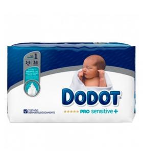 DODOT PAÑAL PRO SENSITIVE TALLA 1 2-5 KG 38 UNIDADES Pañales y toallitas y Cuidado del bebe - DODOT