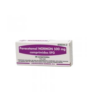 PARACETAMOL NORMON EFG 500 MG 20 COMPRIMIDOS Analgesicos y Analgésico y Antiinflamatorio - NORMON