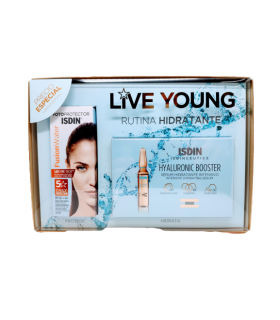 ISDIN PACK LIVE YOUNG FUSION WATER + HYALURONIC BOOSTER 5 AMPOLLAS Inicio y  -