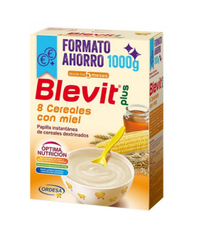 BLEVIT PLUS 8 CEREALES CON MIEL 1000 G Papillas y galletas y Alimentacion del bebe -