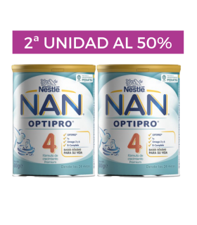 NAN OPTIPRO 4 DUPLO 2 X 800 G Crecimiento y Leches infantiles - NAN