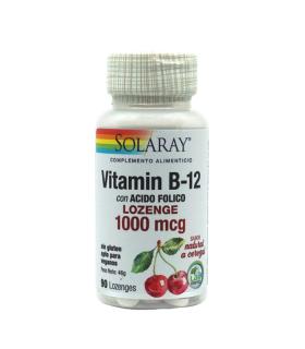 SOLARAY VIT B12 + ACIDO FOLICO 1000MCG 90 COMPRIMIDOS Inicio y  - SOLARAY