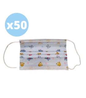 MASCARILLA INFANTIL 3 CAPAS 50 UNIDADES Inicio y  -