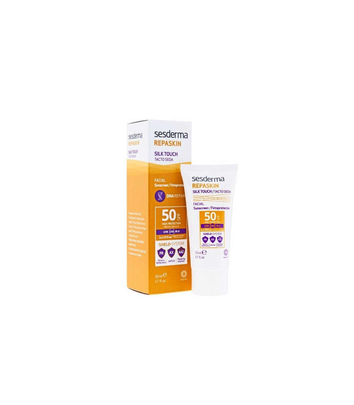 Farmacia Baricentro SESDERMA REPASKIN FOTOPROTSPF50 TACTO SEDA 50 ML