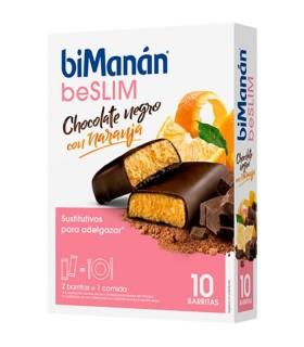 BIMANAN SUSTITUTIVE BARRITA CHOCOLATE Y NARANJA 8 BARRITAS Control de Peso y Dietetica - BIMANAN