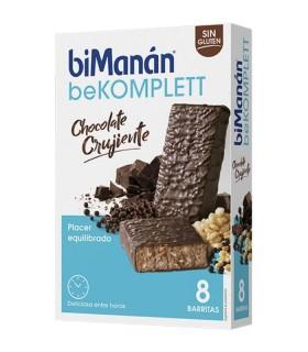 BIMANAN BEKOMPLETT BARRITA CHOCOLATE CRUJIENTE 8 UNIDADES Control de Peso y Dietetica - BIMANAN