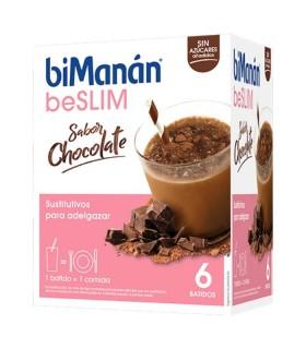 BIMANAN SUSTITUTIVE BATIDO CHOCOLATE 6 SOBRES Control de Peso y Dietetica - BIMANAN