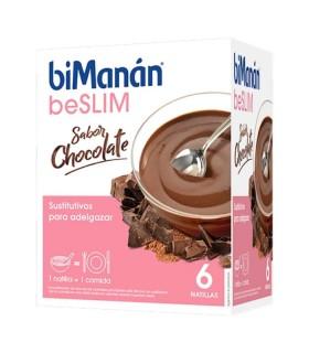 BIMANAN BESLIM NATILLAS CHOCOLATE 6 UNIDADES Control de Peso y Dietetica - BIMANAN