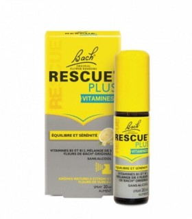 FLORES BACH RESCUE PLUS VITAMINAS SPRAY 20 ML Ansiedad y Sistema nervioso - BACH RESCUE