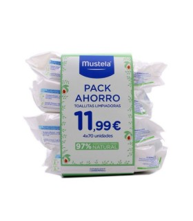 MUSTELA PACK TOALLITAS 4X70 Inicio y  - MUSTELA