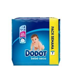 DODOT PAÑAL BEBE SECO TALLA 4 DE 8 A 14 KG Pañales y toallitas y Cuidado del bebe - DODOT