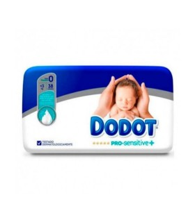 DODOT PAÑAL PRO SENSITIVE TALLA 0 -3 KG 38 UNIDADES Pañales y toallitas y Cuidado del bebe - DODOT