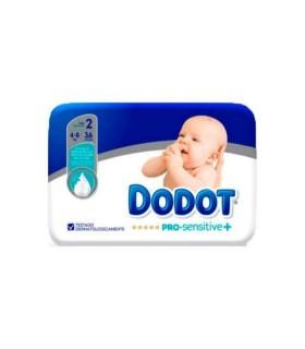 DODOT PAÑAL PRO SENSITIVE TALLA 2 4-8KG 36 UNIDADES Pañales y toallitas y Cuidado del bebe - DODOT