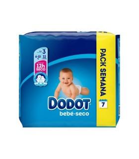 DODOT PAÑAL BEBE SECO TALLA 3 5-10KG 32 UNIDADES Pañales y toallitas y Cuidado del bebe - DODOT