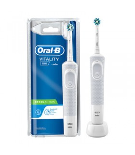 ORAL B CEPILLO ELECTRICO RECARGABLE CROSSACTION COLOR BLANCO