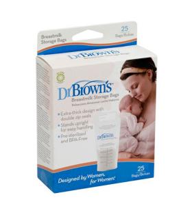 DR BROWN'S BOLSAS LECHE MATERNA 25U - Accesorios lactancia y Lactancia
