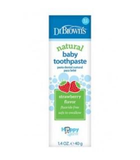 DR BROWN'S PASTA DENTAL PARA BEBES SABOR FRESA 0-3AÑOS - Cuidado del bebé y primeros dientes