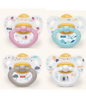 NUK CHUPETE CLASSIC HAPPY DAYS LATEX 18-36M- Accesorios del bebé y Chupetes
