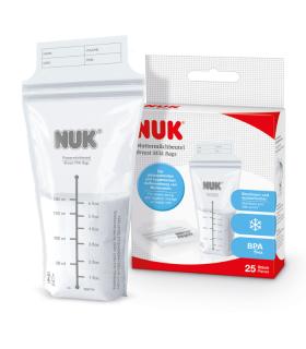 NUK BOLSAS DE LECHE MATERNA  25 UDS -Accesorios lactancia y lactancia