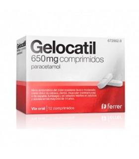 GELOCATIL 650 MG 12 COMPRIMIDOS Analgesicos y Analgésico y Antiinflamatorio - FERRER INTERNACIONAL