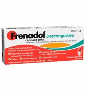FRENADOL DESCONGESTIVO 16 CAPSULAS Resfriados y Resfriado, tos y Gripe - JOHNSON AND JOHNSON