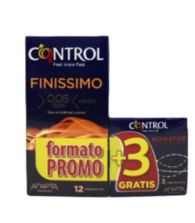 CONTROL FINISSIMO PRESERVATIVOS 12U Preservativos y Salud Sexual - CONTROL