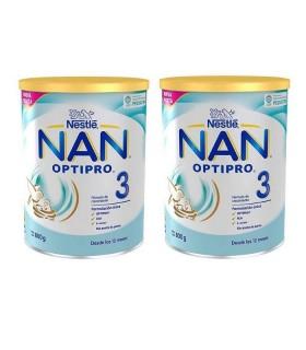 NAN OPTIPRO 3 DUPLO 2 X 800 G Leches a partir de 12 meses y Leches infantiles - NAN