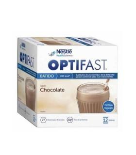 OPTIFAST BATIDO CHOCOLATE 12 SOBRES Control de Peso y Dietetica - NESTLE HEALTH SCIENCE