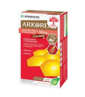 ARKOPHARMA JALEA REAL FRESCA GINSENG 20 AMP Defensas y Complen Alimentarios y vitamin