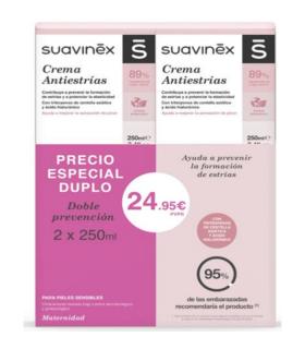 SUAVINEX CREMA ANTIESTRIAS DUPLO 250ML X 250ML