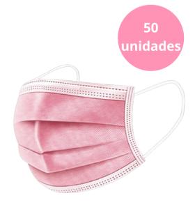 MASCARILLAS QUIRÚRGICAS ROSAS 50U Inicio y  -