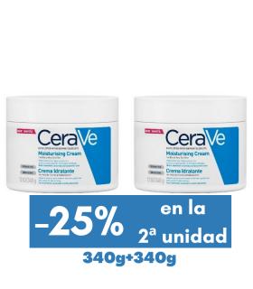 CERAVE DUPLO CREMA HIDRATANTE 2 x 340 G Hidratación piel seca y Hidratación -