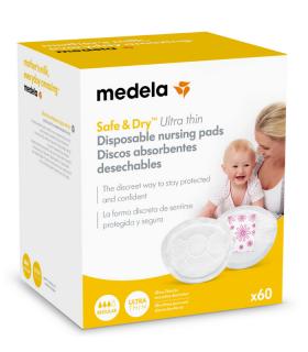 MEDELA DISCOS ABSORBENTES DESECHABLES SAFE & DRY ULTRA THIN 60UDS
